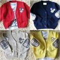 Горяч-продавая MICKEY девушки одежда ребенок мужского пола хлопка одежды ребенка свитер верхняя одежда ребенка кардиган новорожденный мальчик весной и осенью