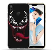 Luxury Marvel Hero venom Case For Huawei Mate 9 10 20 P8 P9 P10 P20 Lite Plus Pro 2017 Cover Case TPU Coque The Avengers Etui