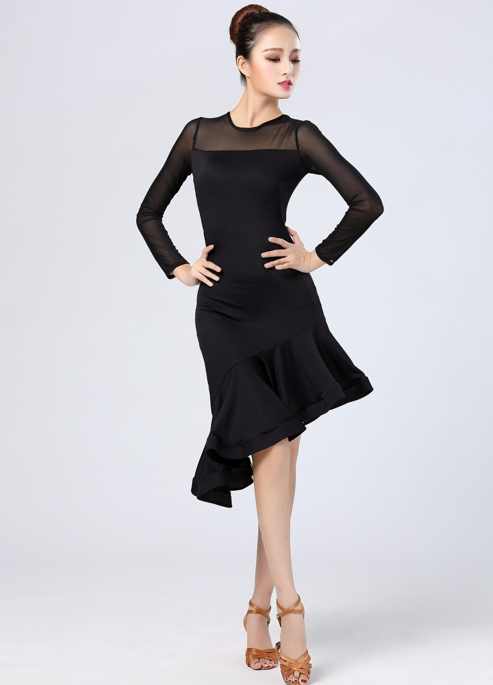 Aliexpress.com : Buy Black Latin dance dress 2018 new ...