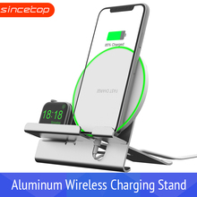 Charger holder For Apple Watch 2 in 1 Fast Wireless Charging Stand For Apple Watch 3/2/1,Aluminum Alloy For iPhone Xs/XS MAX/X/8