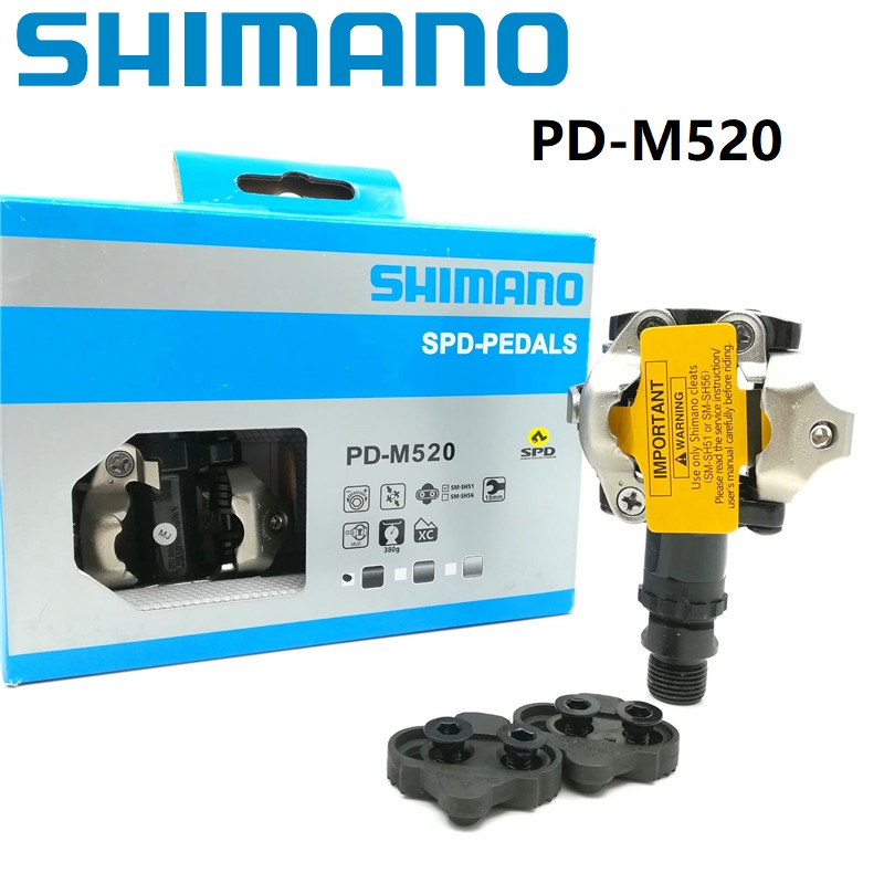12d8bf201f8 Shimano SPD M520 Pedals Self Locking Pedal With SM-SH51 Cleat Set Bearing  PD-M520 MTB Mountain Bike Parts
