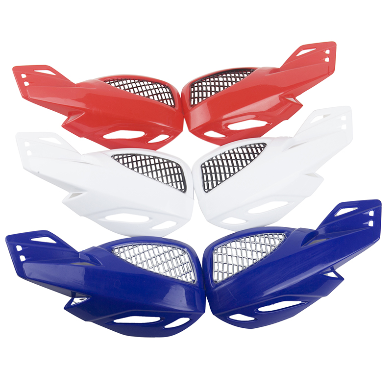 Hot sell Universal Motorcycle Handguards Motocross wind shield Handlebar Hand Guard Protectors Dirt Red/Blue/White Accessories-in Falling Protection from Automobiles & Motorcycles