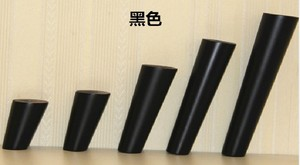 Image 4 - 4pcs/lot Wooden Furniture Legs Oblique Tapered Reliable Wood Furniture Cabinets Legs Black Table Sofa Feet with Metal Plat B528
