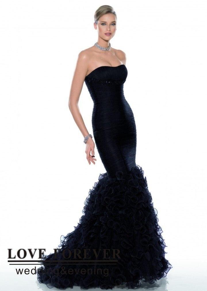 Best Selling Mermaid Style Black Tulle Ladies Formal Western Wear
