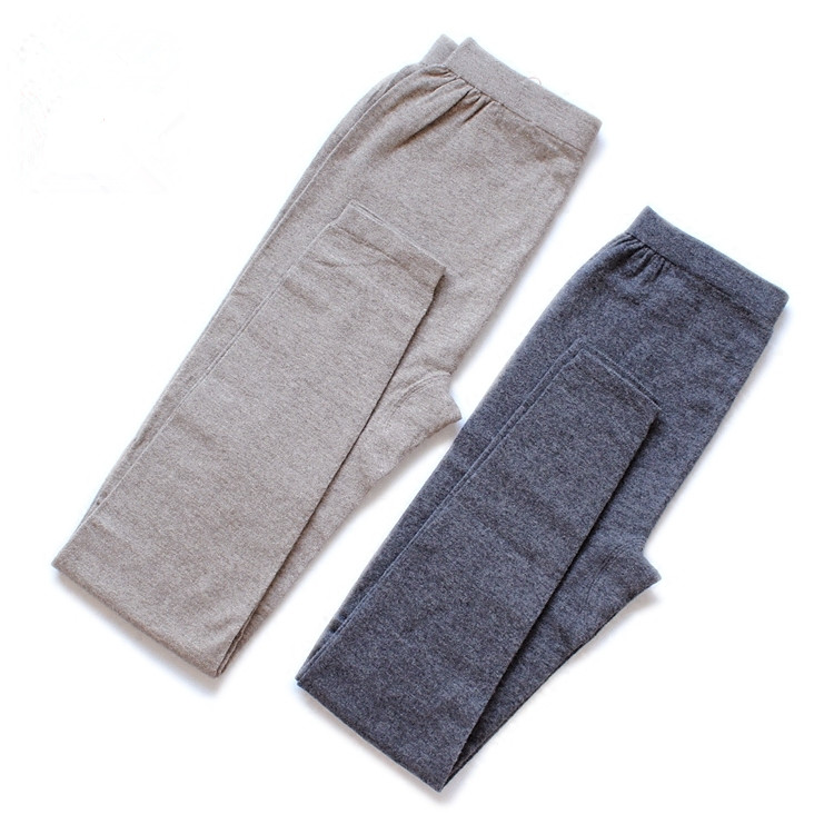 pure goat cashmere knit women winter basics leggings warm skinny pants bottoming trousers for unisex EU/L 2XL