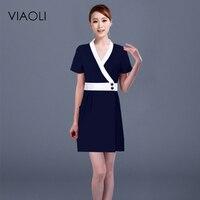 Viaoli Newest style Doctor Clothing Work Wear Medical Uniforms Nurse Uniform Pharmacies Beautician work clothes