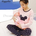 Top quality autumn and winter long-sleeved cotton pajamas pregnant women pregnant Buru Yi suit tracksuit
