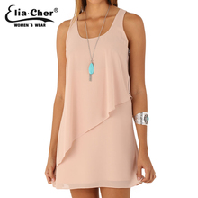 Women Dress Chiffon Summer Dresses Eliacher Brand Plus Size Casual Women Clothing Chic Evening Party shift Dresses vestidos