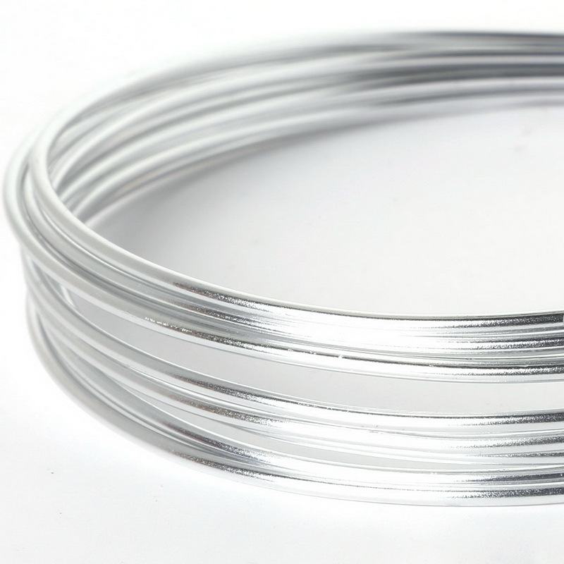New Arrivals 2mm Sliver aluminum wire coil 3m/roll soft DIY jewelry ...