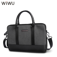 WIWU High Quality Laptop Bag For MacBook Pro 13 Genuine Leather Black Bag For Xiaomi Notebook