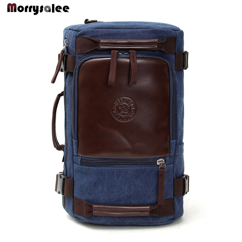 Retro fashion Canvas Backpack Travel Bag portable Shoulder Messenger multifunctional large capacity computer package цена