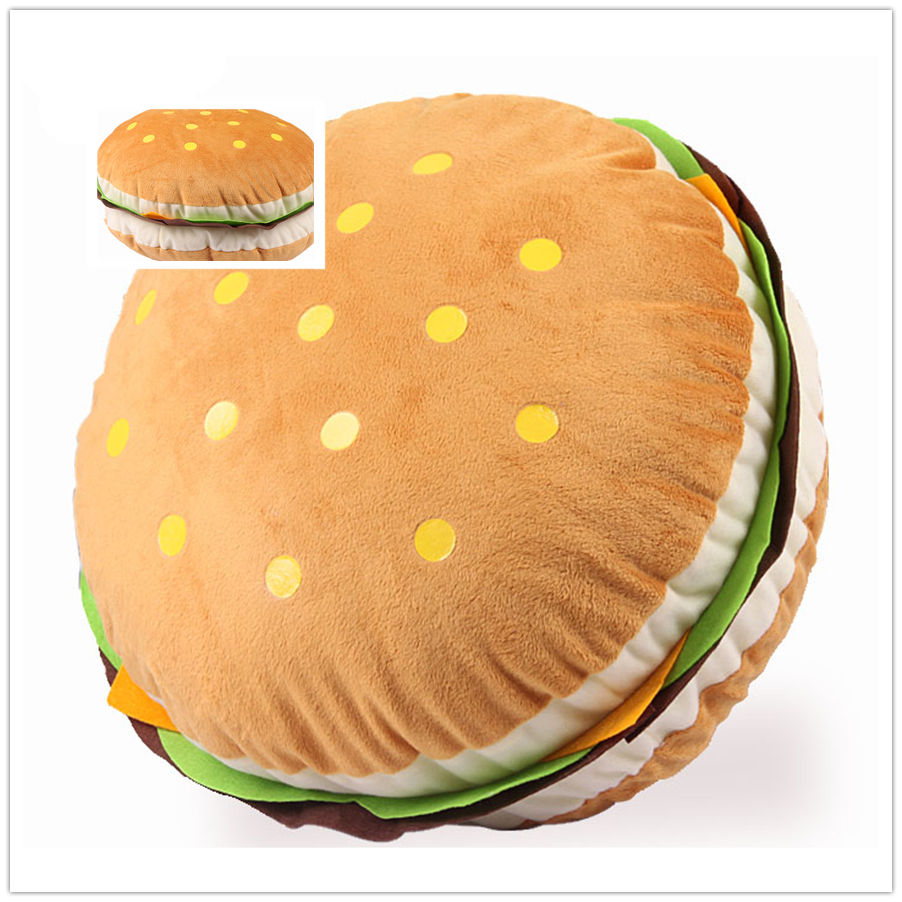 36x18cm cute huge hamburger pillow cushion stuffed throw pillow sofa food cushion pad plush king burger doll gift birthday