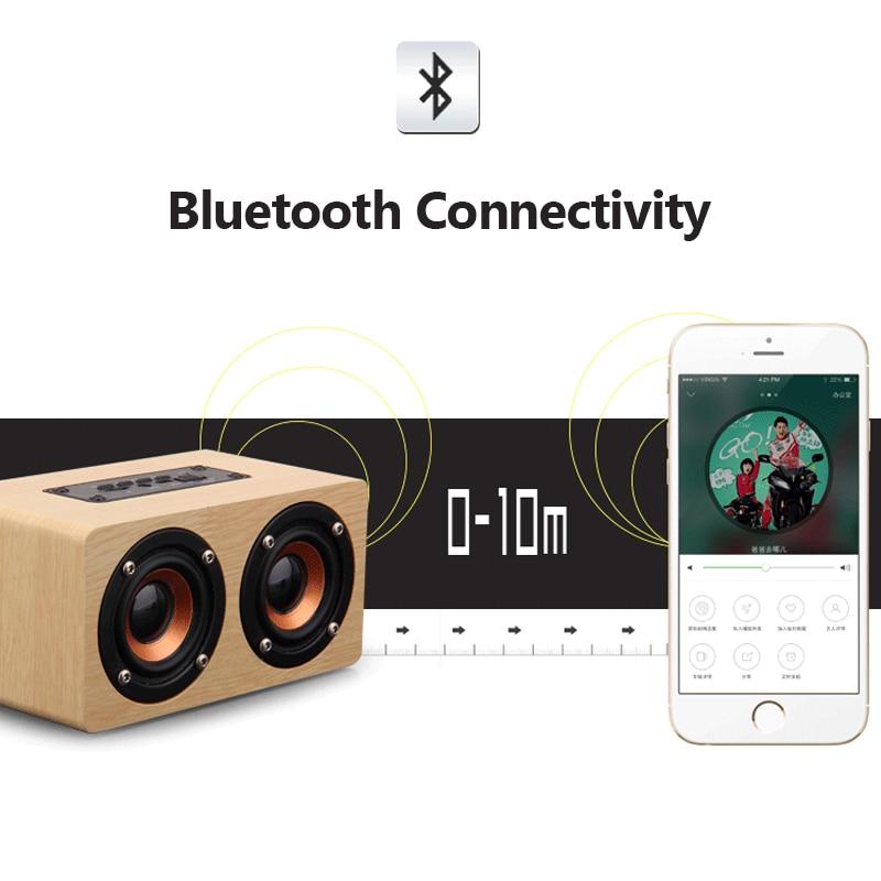 რეტრო ხის Bluetooth სპიკერი HIFI - პორტატული აუდიო და ვიდეო - ფოტო 6
