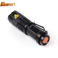 Top Adjustable Focus Zoom Waterproof Flashlight Cree Q5 1000 Lumens LED Flashlight 3-Mode LED Torch Tactical Flashlights
