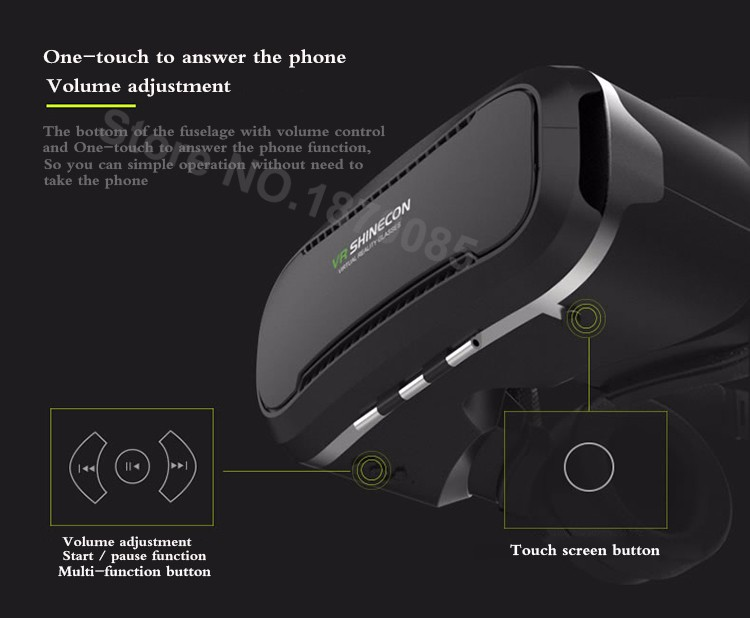 Newest VR Shinecon 4.0 Google cardboard VR BOX with Headphone VR Virtual Reality 3D Glasses PK Z4 For 4.5-6.0 inch Smartphone (9)
