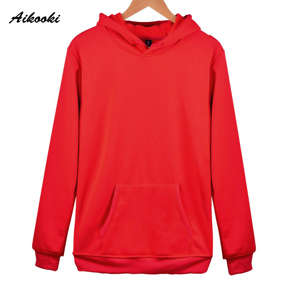 Aikooki 2018 Solid Color Hoodies And Swes