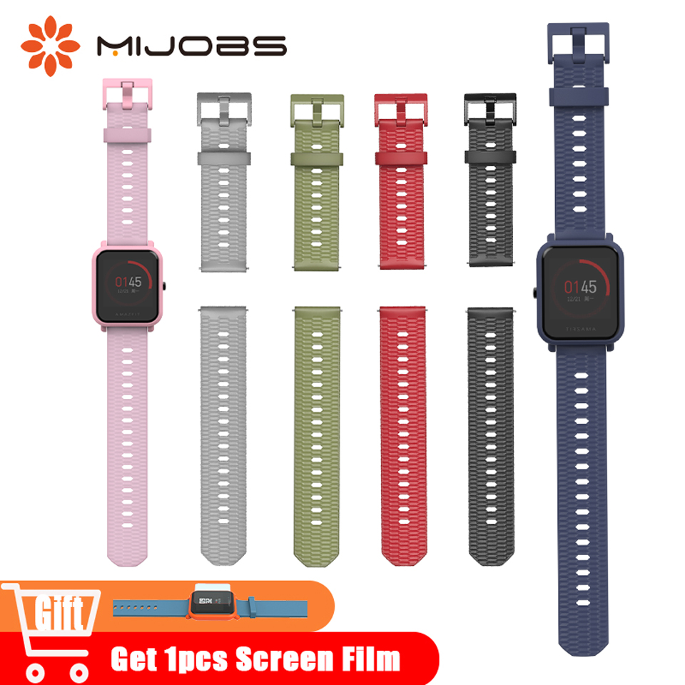 20mm 22mm Strap for Xiaomi Huami <font><b>Amazfit</b></font> GTS Bip <font><b>BIT</b></font> PACE Stratos <font><b>2</b></font> Lite Bracelet Accessories Watch Band Silicone Wrist Strap image
