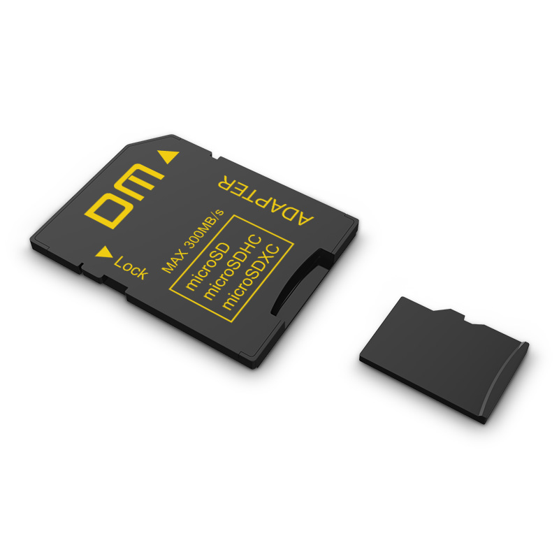 DM SD-t Adapter SD4.0 UHS-IIcomptabile With MicroSD MicroSDHC MicroSDXC Transfer Speed Can Up To 300MB/s Micro Sd Card Reader