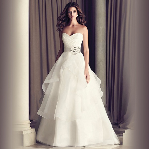 Casamento-White-Wedding-Dress-Plus-Size-Wedding-Dresses-Organza-Bridal-Gown-Vestido-De-Noiva-2015-Sweetheart (1)