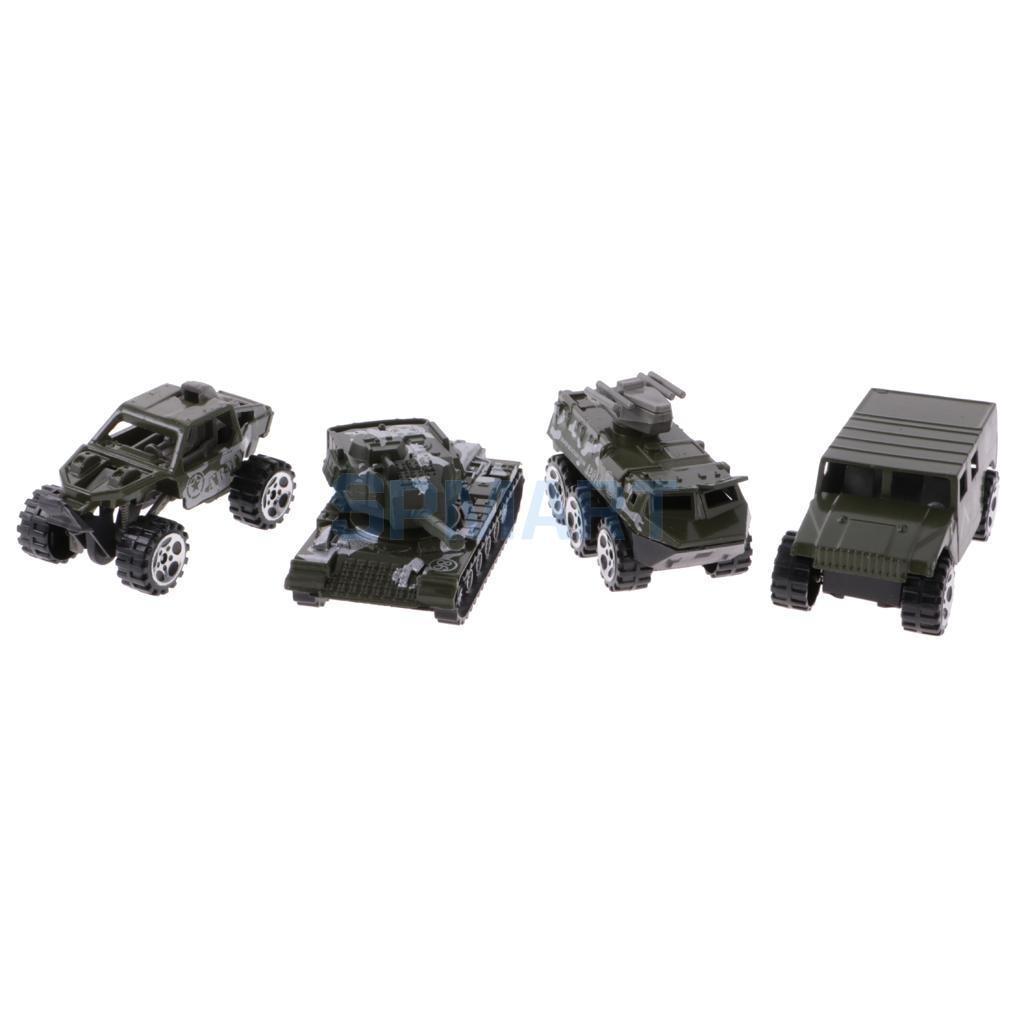 12pcs 1:64 Diecast Army Cars Truck Off-road Car Tank Model Set Toy Kids Boy Gift Preschool Toy Camo
