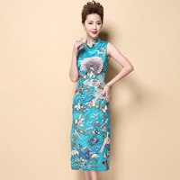 High Quality Handmade Embrodery Vintage Female Dress Chinese Style Women S Modern Long Qipao Cheongsam M