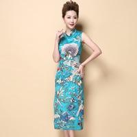 High Quality Handmade Embrodery Vintage Female Dress Chinese Style Women S Modern Long Qipao Cheongsam M