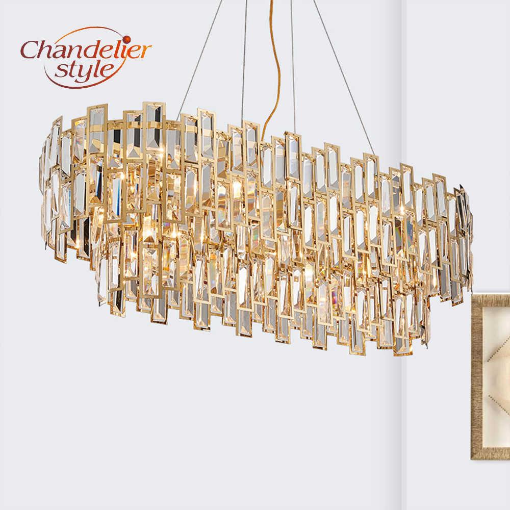 Современная хрустальная люстра, светильник, роскошный светодиодный хрустальные люстры, подвесные светильники для дома, гостиной, украшение для столовой