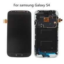 100% новый ЖК-дисплей для Samsung Galaxy S4 GT-i9500 i9505 ЖК-дисплей дисплей Сенсорный экран с дигитайзер сборки с рамкой Freeshipping