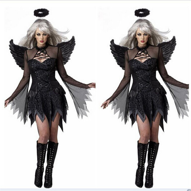 scary halloween costumes 2 source online shop nattens engel dark angel with wings sexy scary halloween