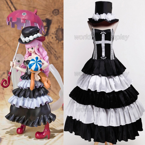 Free Shipping One Piece Perona Black Cosplay Dress Custom Made for Halloween and Christmas
