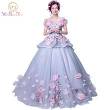 Реальное фото элегантные платья 2020 quinceanera Розовое Бальное