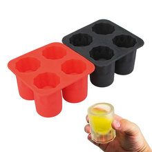 Silicone Ice Cube Tray Cool Glass Shape Ice Molds Maker Party Supply Bar Kitchen Accessories