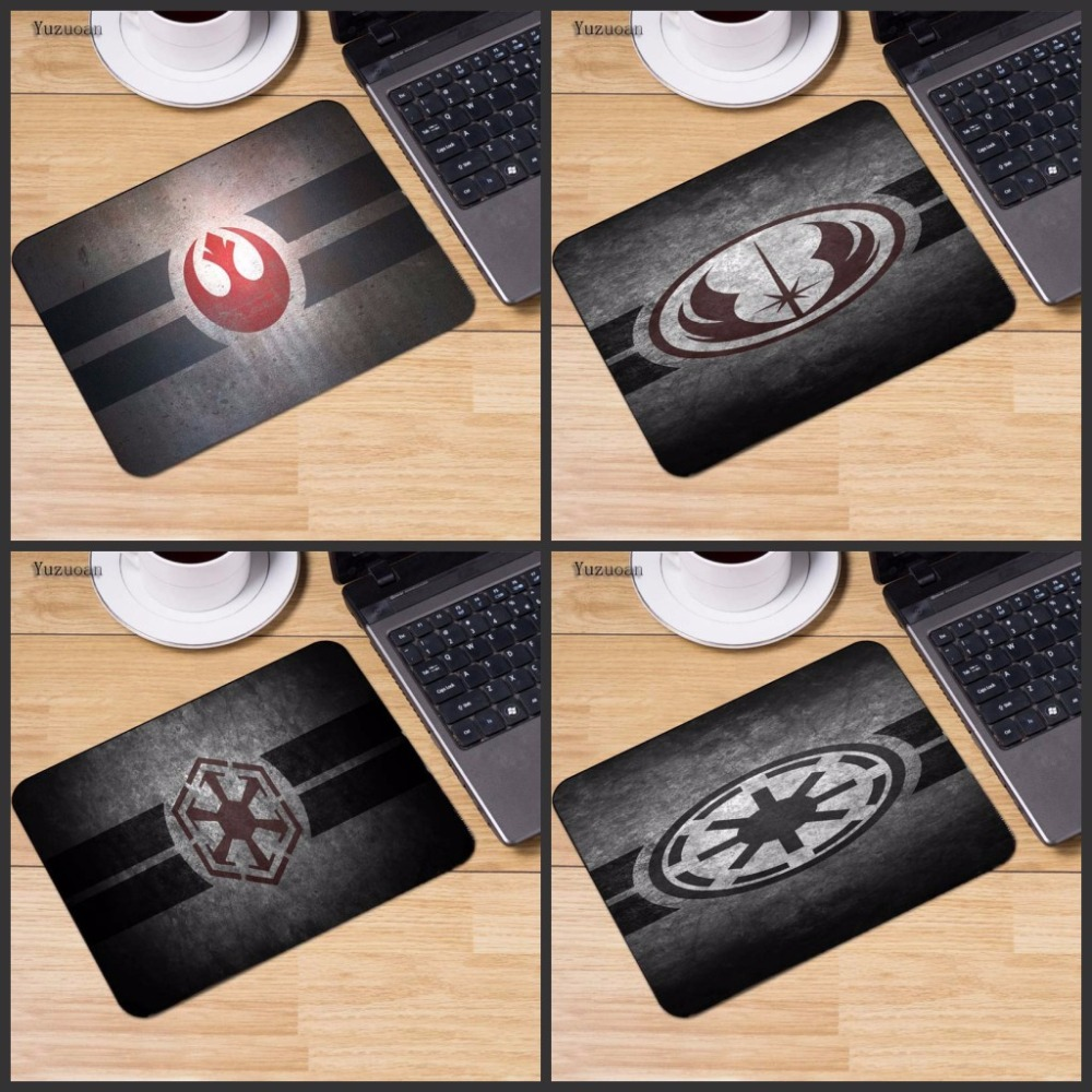 Yuzuoan Звездные войны компьютер Gaming keyboard Мышь Pad Мышь колодки украсить ваш стол нескользящая резиновая прокладка не оверлок край 18*22 см