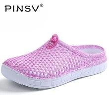 PINSV женская летняя обувь пляжные женские сандалии-шлепанцы; Брендовые женские туфли женские босоножки светильник женская обувь, сандалии размеры 36-41