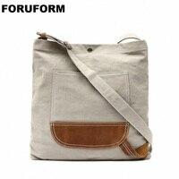Vintage New Women Messenger Bag Female Canvas Vintage Shoulder Bag Ladies Crossbody Men Large Shopping Designer