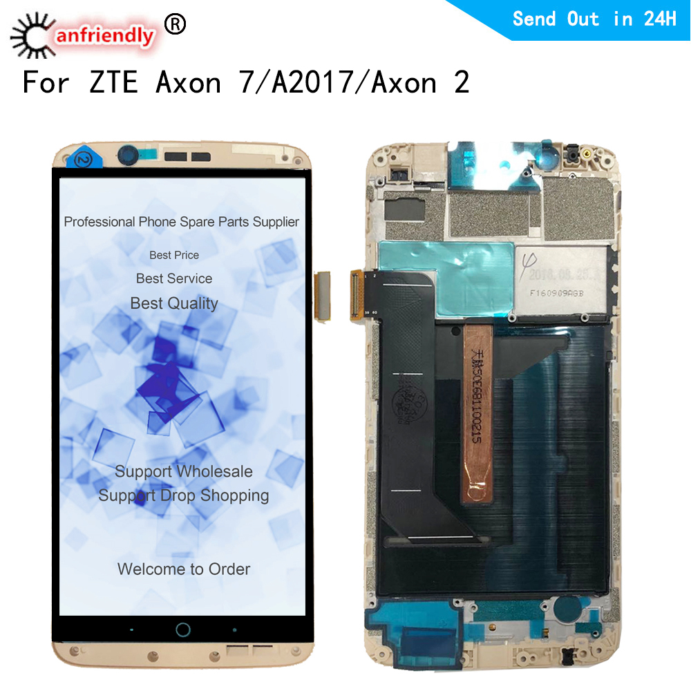 5.5 For ZTE Axon 7 A2017 A2017U A2017G Axon7 LCD Display+Touch Screen Digitizer with frame Assembly Replacement For ZTE Axon 25.5 For ZTE Axon 7 A2017 A2017U A2017G Axon7 LCD Display+Touch Screen Digitizer with frame Assembly Replacement For ZTE Axon 2