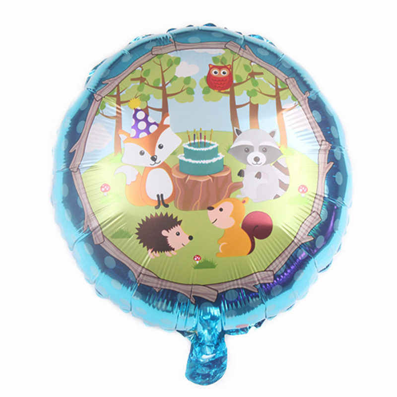 XXPWJ  New 18-inch round cartoon animal aluminum balloon balloon Hedgehog Fox Little Grizzly Festival Party Decoration