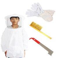 Beekeeping Tools Export Type Beekeeping Set Anti Beehive Beekeeping Gloves J Type Scraper Bristle Washer