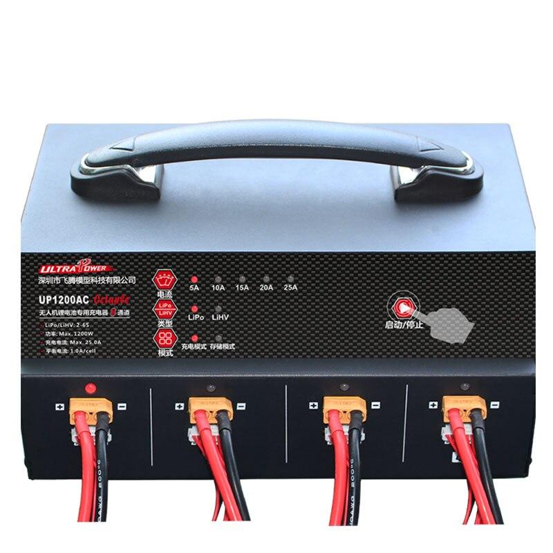Image 2 - Ультра мощность UP1200 1200W 25A 8 каналов 2 6S батарея беспилотное зарядное устройствоДетали и аксессуары    АлиЭкспресс