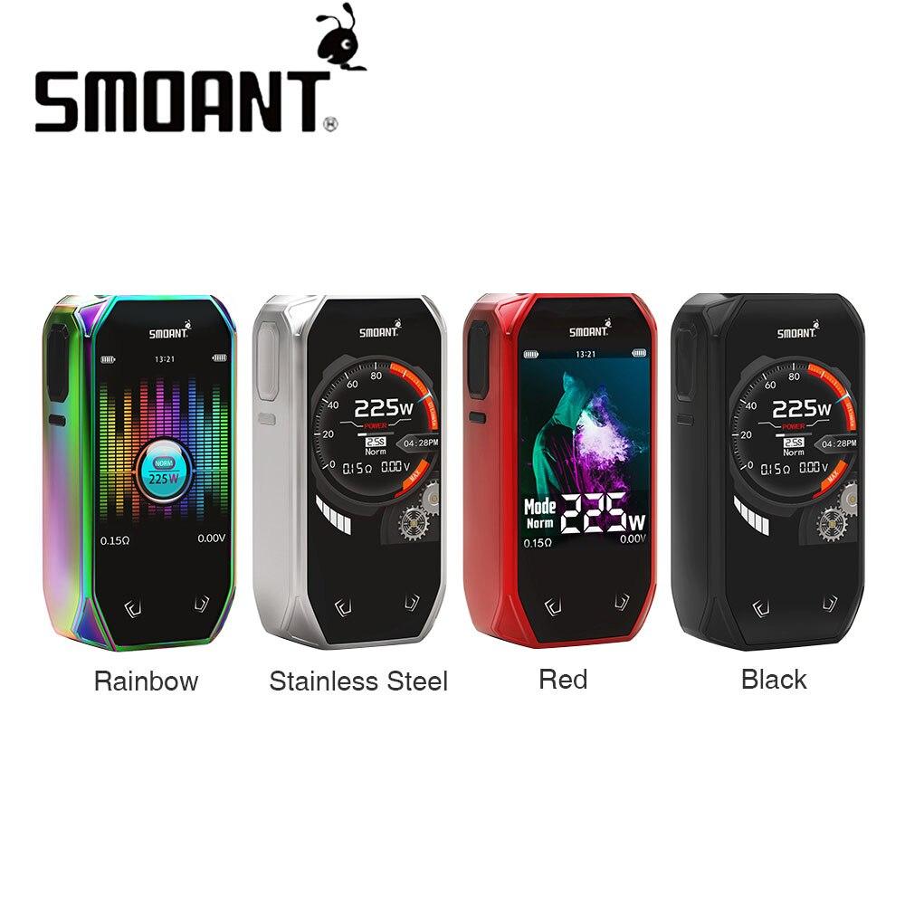 Оригинальный 225 Вт Smoant Набу TC поле MOD с 2,4 дюймов красочные Экран создано Двойной 18650 батареи Vs сайлонов /Харон мини