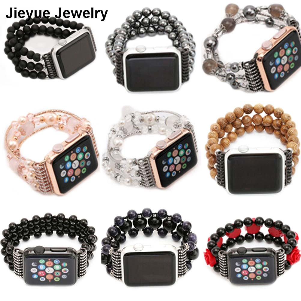 Women s Agate Stretch Bracelet for Apple Watch Band for iWatch Seies 1 2 38mm Wrist