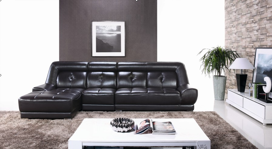Elegant Black Color Modern Latest Corner Sofa Design Leather Set Designs And Prices In Living Room Sofas From Furniture On Aliexpress