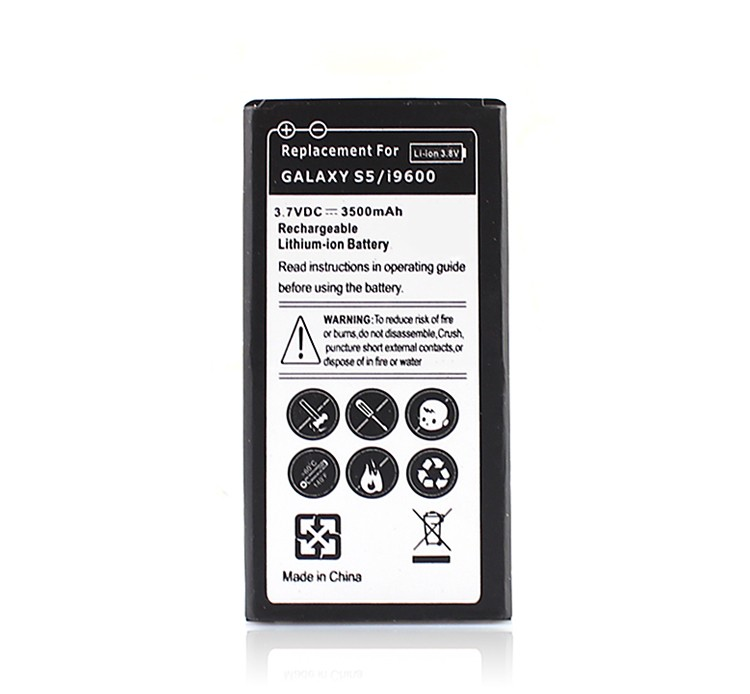 1Pcs 3500mAh For Galaxy Phone Replacement Extended Batteria For <font><b>Samsung</b></font> Galaxy <font><b>S5</b></font> i9600 Rechargeable Backup Battery <font><b>Bateria</b></font> image