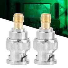 2pcs/Lot BNC Male to SMA Female RF Connector Coaxial Adapter Test Converter male female Adapters