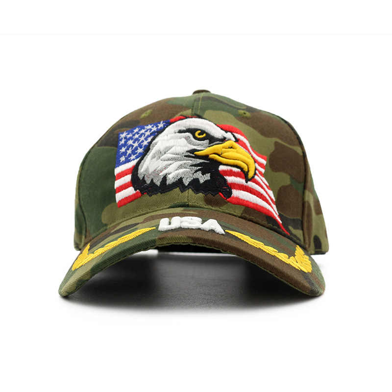 e0795bc2b42 ... Jungle Hunting Caps Las Vegas TEXAS Camo Baseball Cap for Men USA flag  eagle Camouflage snapback
