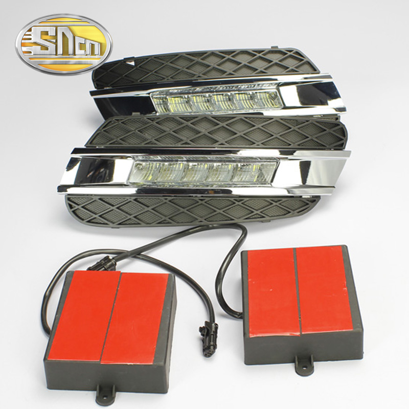 SNCN LED Daytime Running Light For Mercedes Benz W164 ML280 ML300 ML350 2006 2009 Waterproof ABS