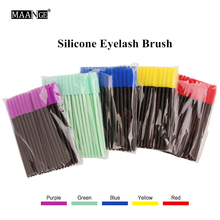 Silicone eyelash brush head lashes brush pack 5 colors disposable makeup brushes tools 50pcs/pack Cosmetic Tools