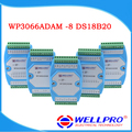 WP3066ADAM ( 8 DS18B20 ) _ DS18B20 temperature acquisition module / RS485 MODBUS RTU communication