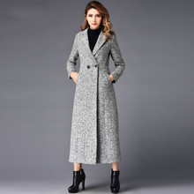 S-4XL Plus Size Winter Women's Overcoat Double-Breasted Solid Color Long Jackets Outwear Long Sleeve Female Wool Blends Coat