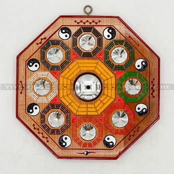 Chinese Fengshui Peach Bagua Mirror Wall Hanging The 8 Hexagrams Mirror Auspicious Peach Crafts Home Decoration Accessories